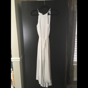 Mossimo White Maxi Dress With Micro Pleats